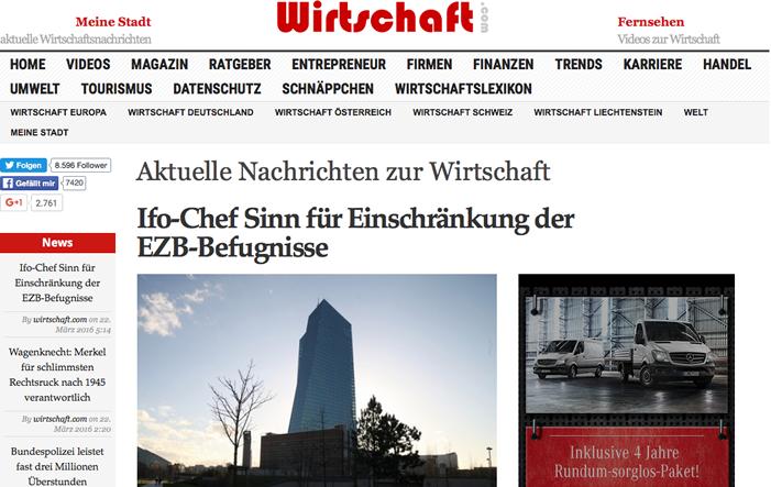 wirtschaftcom - wirtschaft.com – an exemplar of the modern internet